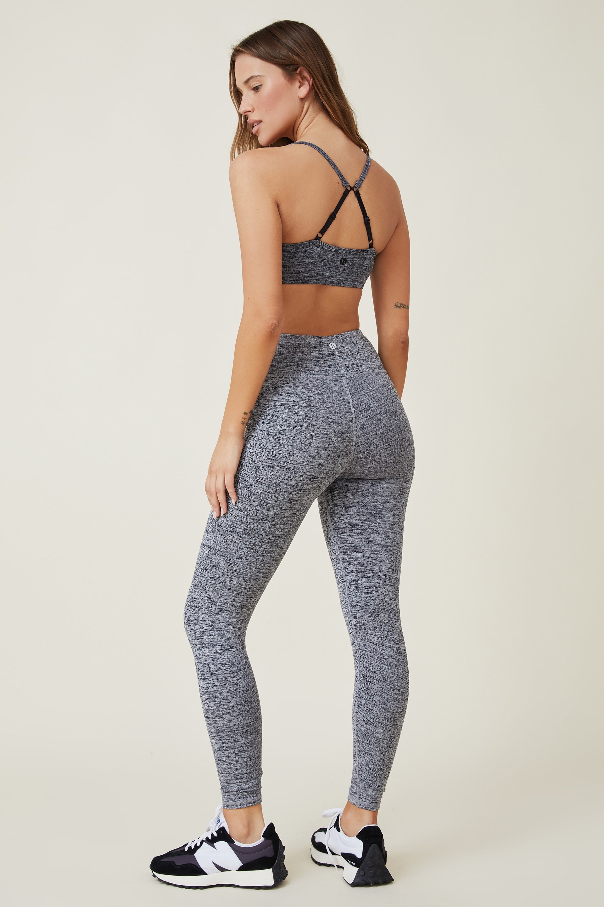 The Active Core 7/8 Tight has a wide stretch double layered waistband and firmly hugs the body. These high waist active tights ensure maximum comfort while you workout, with moisture wicking fabric treatment that will keep you cool and dry. The ultimate staple for your active wardrobe. Available in black, grey and navy. - Firmly hugs the body - High waist - Above the ankle length - Wide stretch and double layer waistband with coin pocket - Moisture wicking fabric - Flatlock stitching SOLID: 88% POLYAMIDE / 12% ELASTANE MARLE: 44% POLYAMIDE / 44% POLYESTER / 12% ELASTANE MODEL WEARS SIZE: SMALL - AU 10 US 6 EUR 38