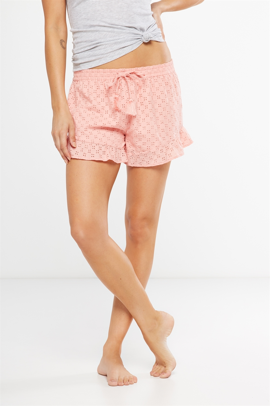 Body  Textured Bedtime Shortie  Peachy pink