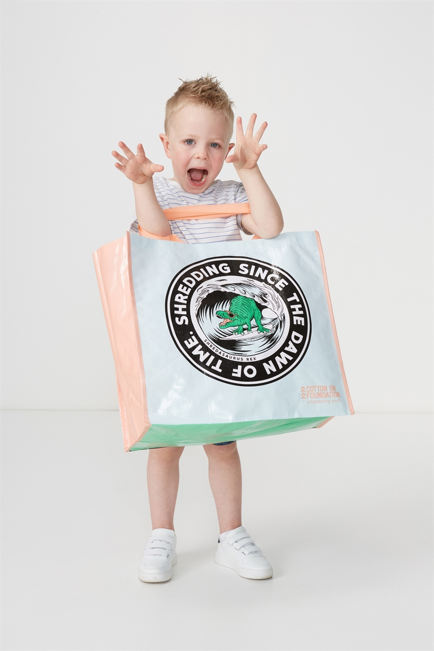 Cotton On Foundation - Foundation Kids Tote Bag - Shredding is cool 9353699278023