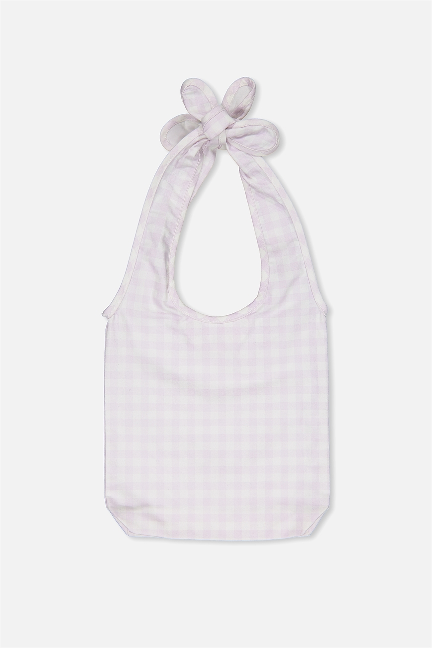 Cotton On Kids  Gingham Bow Bag  Misty lilacgingham