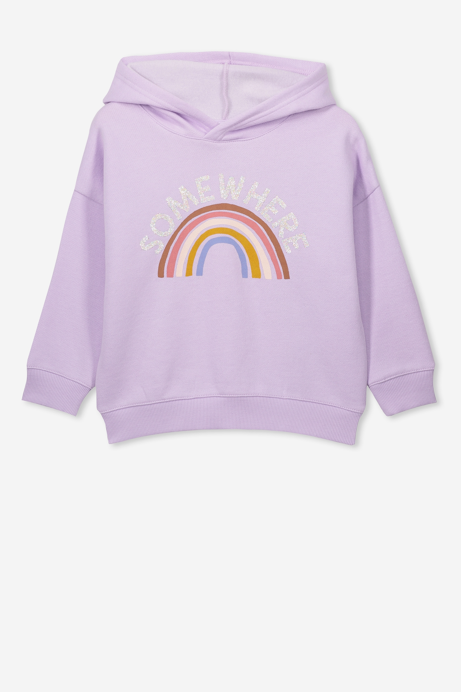 Cotton On Kids - Scarlett Hoodie - Baby lilac/somewhere rainbow/drop