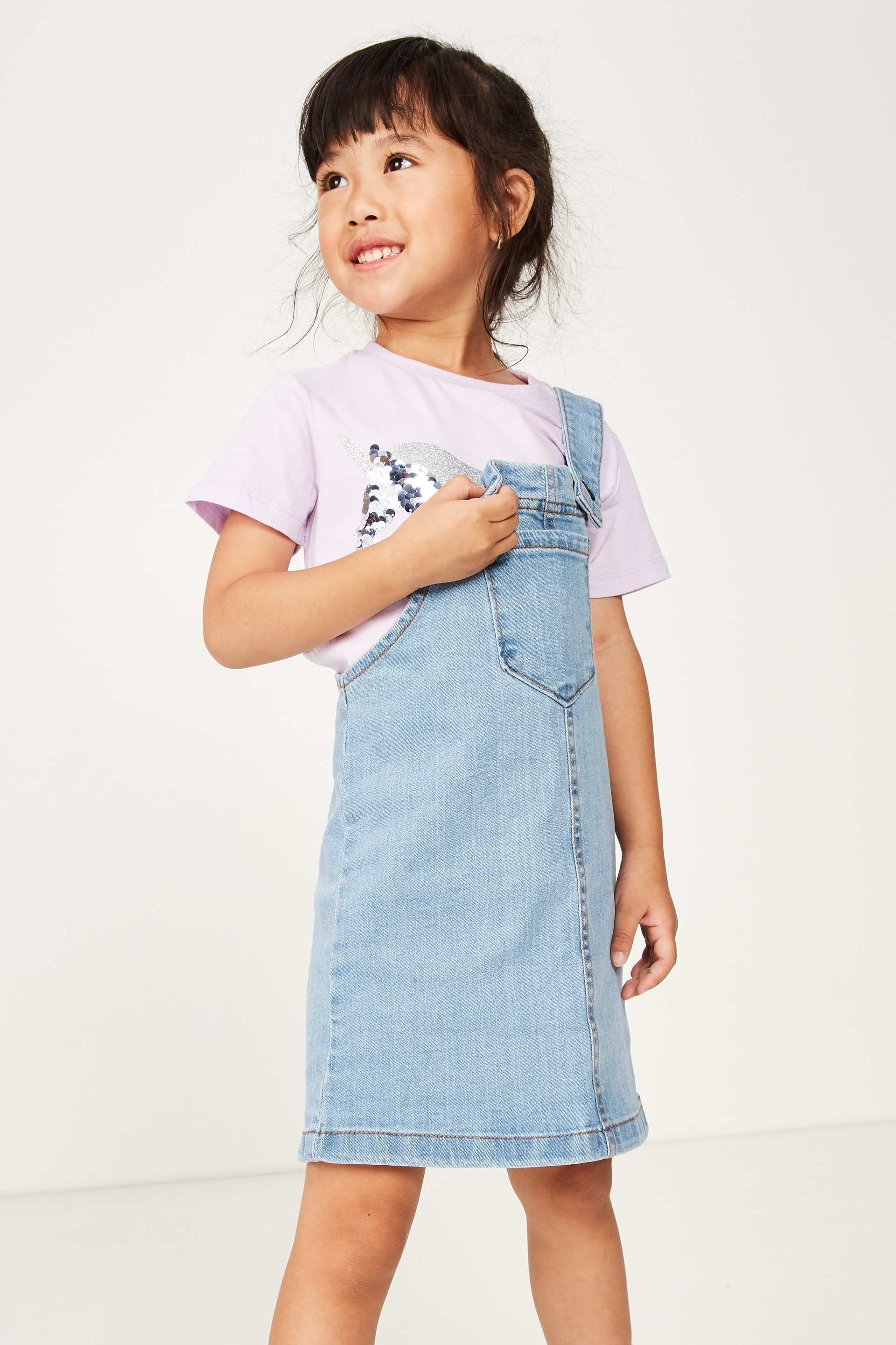 Cotton On Kids  Summer Pinafore  Light wash
