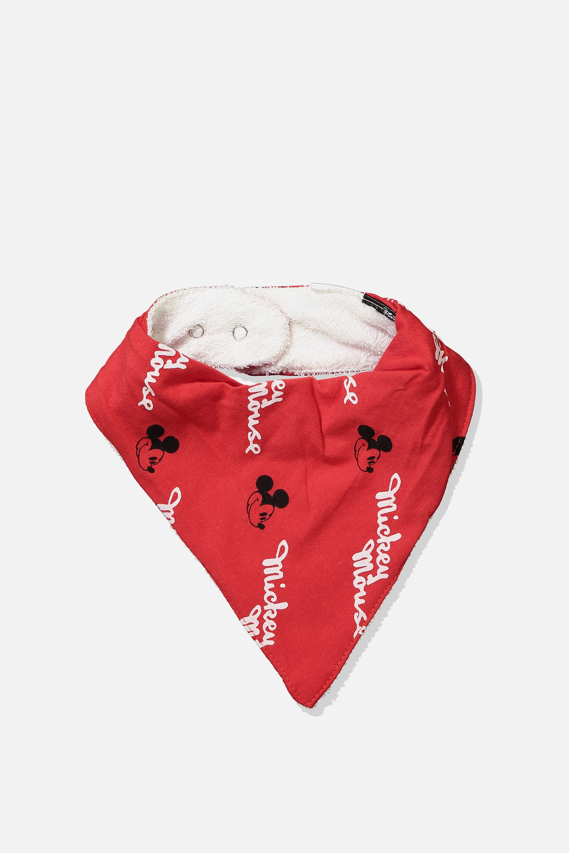 Cotton On Kids  License Dribble Bib  Flame scarletmickey mouse