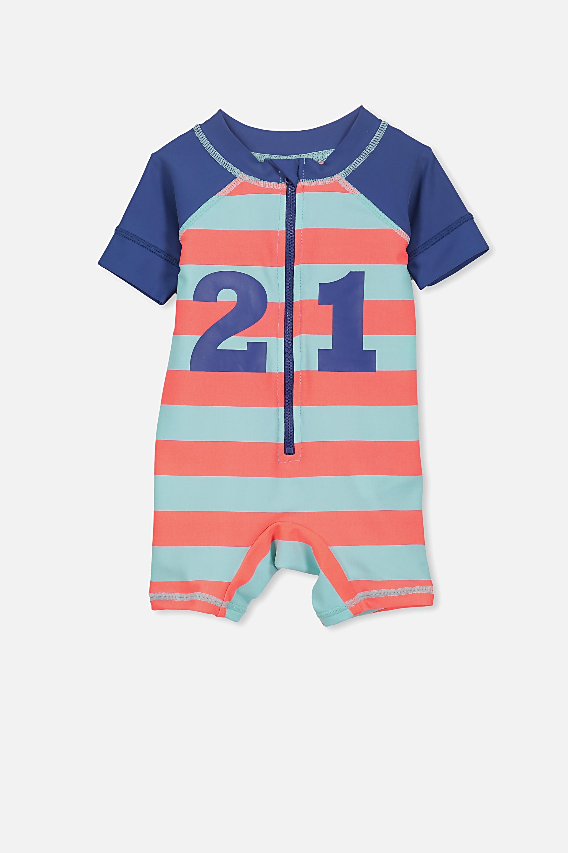 1f30682c96575 Short Sleeve Harris One Piece Swimsuit
