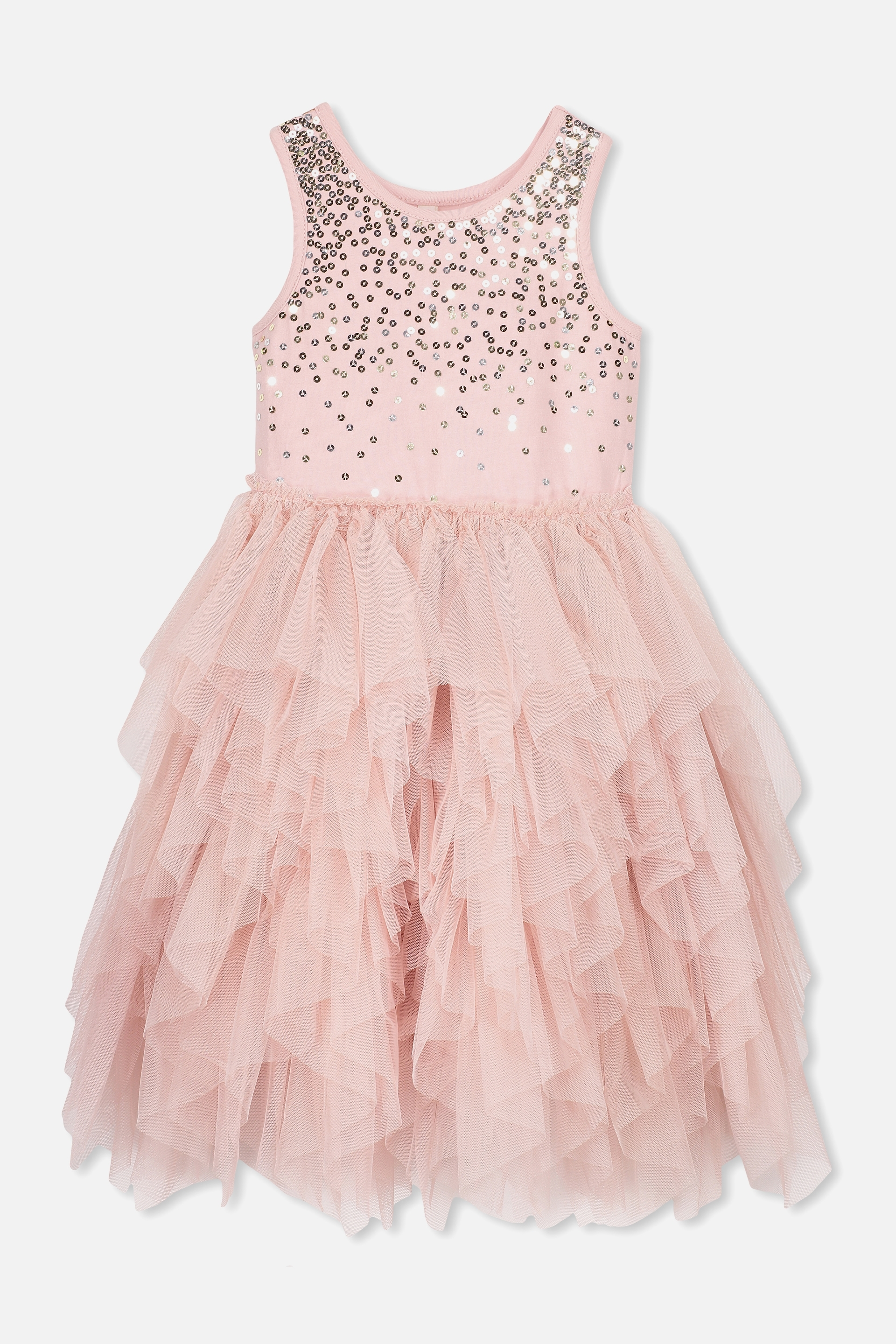 Cotton On Kids  Iris Tulle Dress  Dusty pinkgold  silver