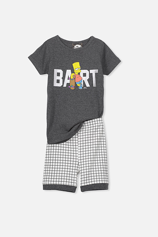 Cotton On Kids - Bart Simpson Boys Peter Short Sleeve PJ Set - Bart simpson 9352403303877
