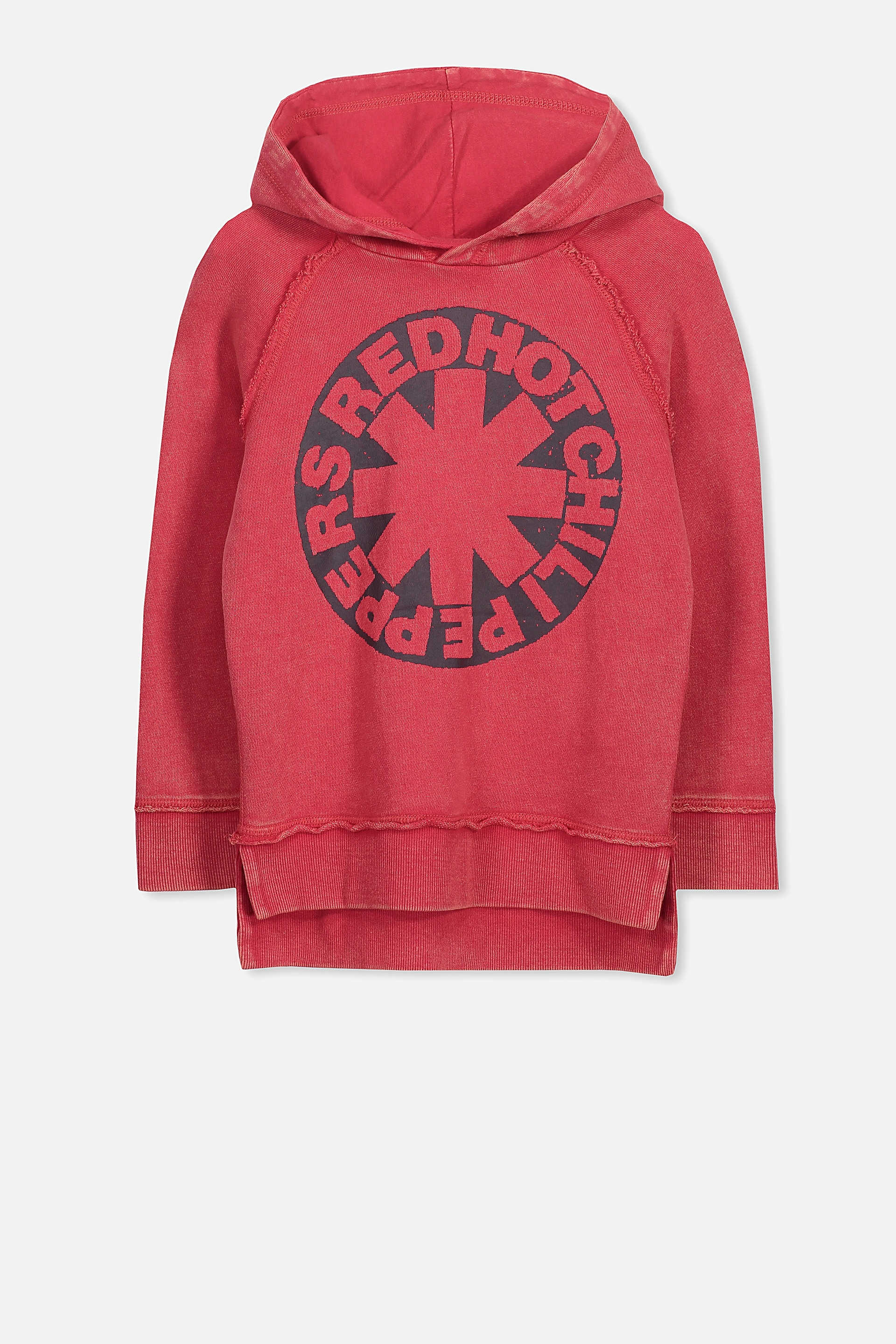Cotton On Kids - Red Hot Chilli Peppers Fleece Hoodie - Red/rhcp 9352403655631