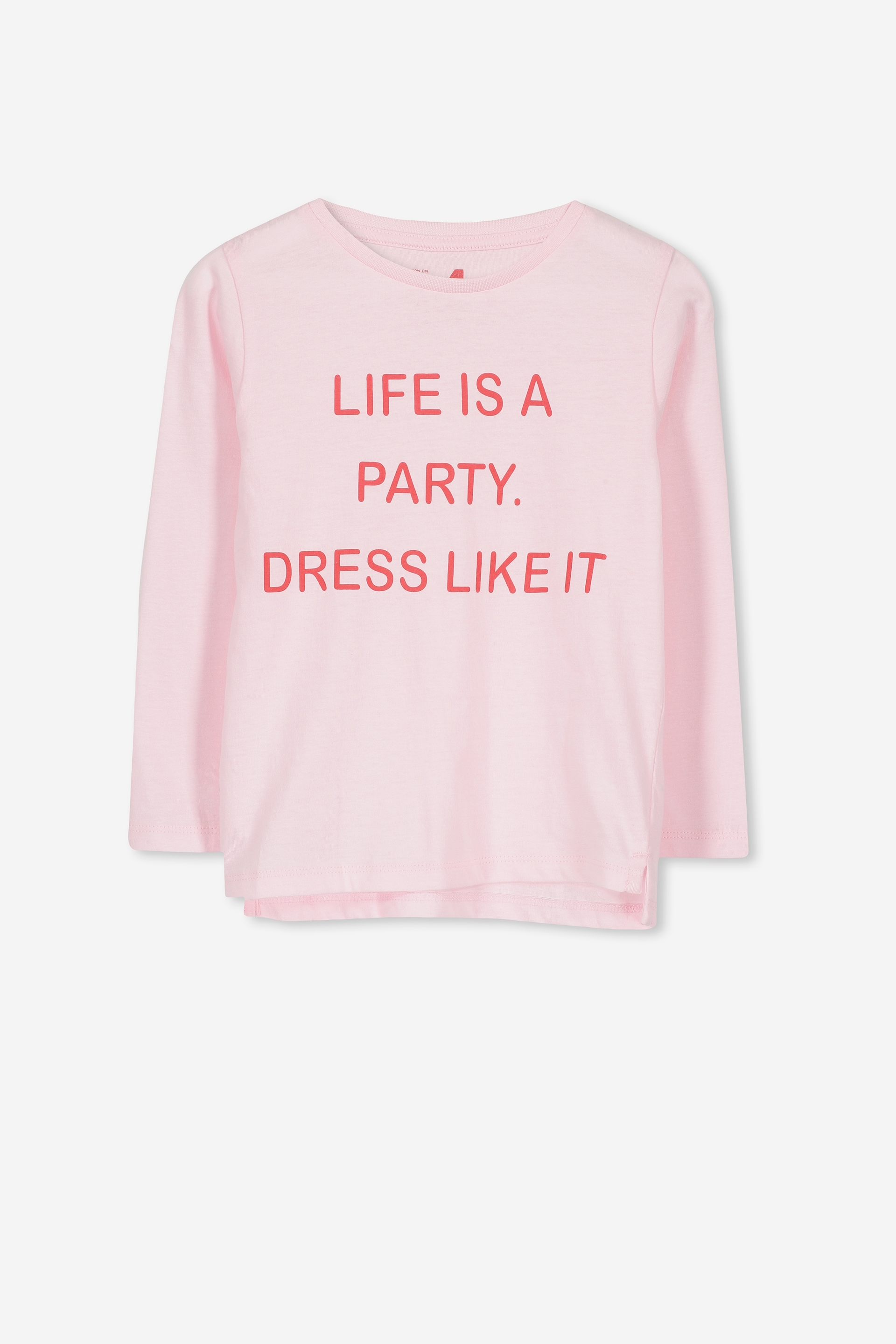Cotton On Kids  Penelope Long Sleeve Tee  Pinklife is a partyset in