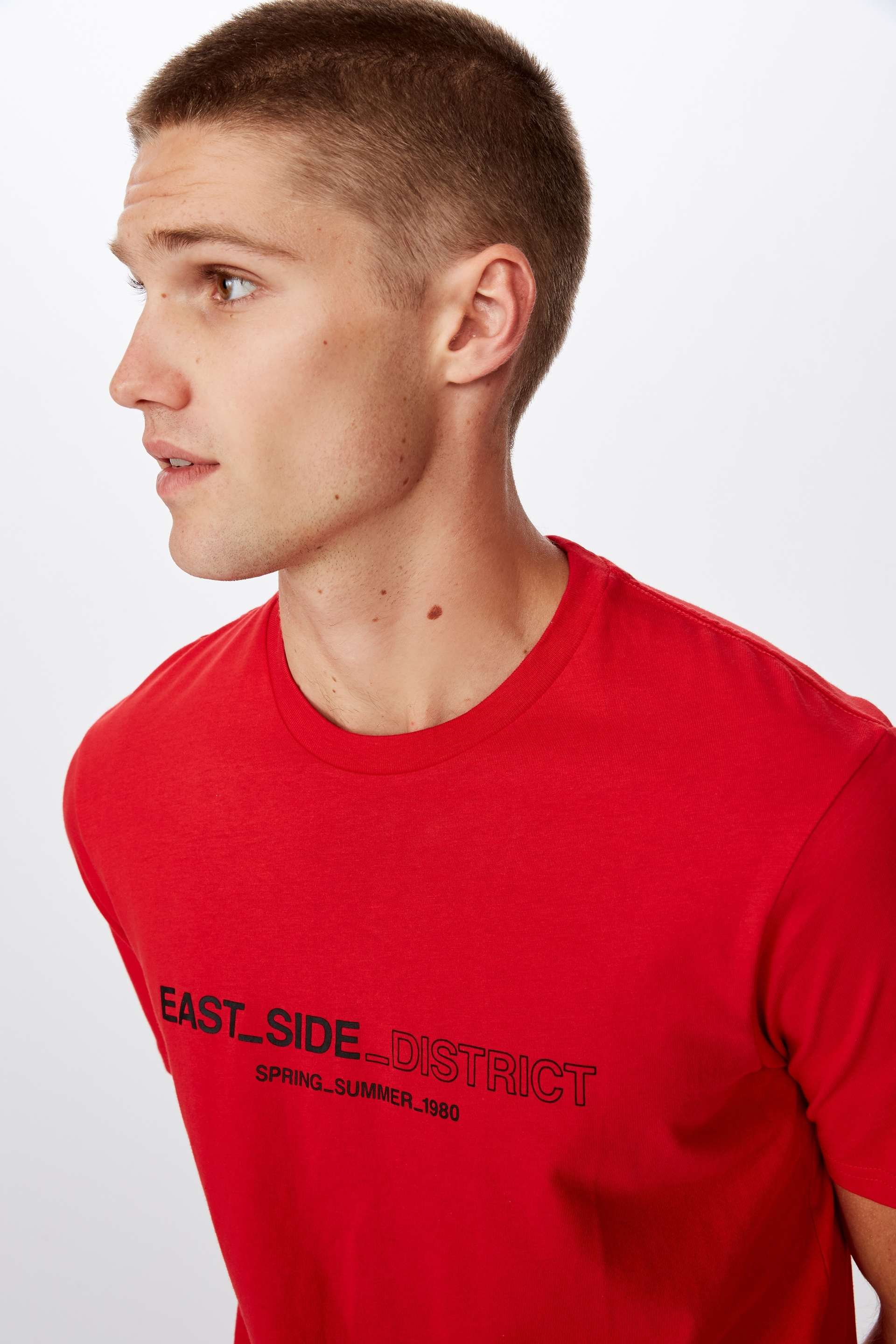 Cotton On Men - Tbar Tee Clearance - Strong red/east side district