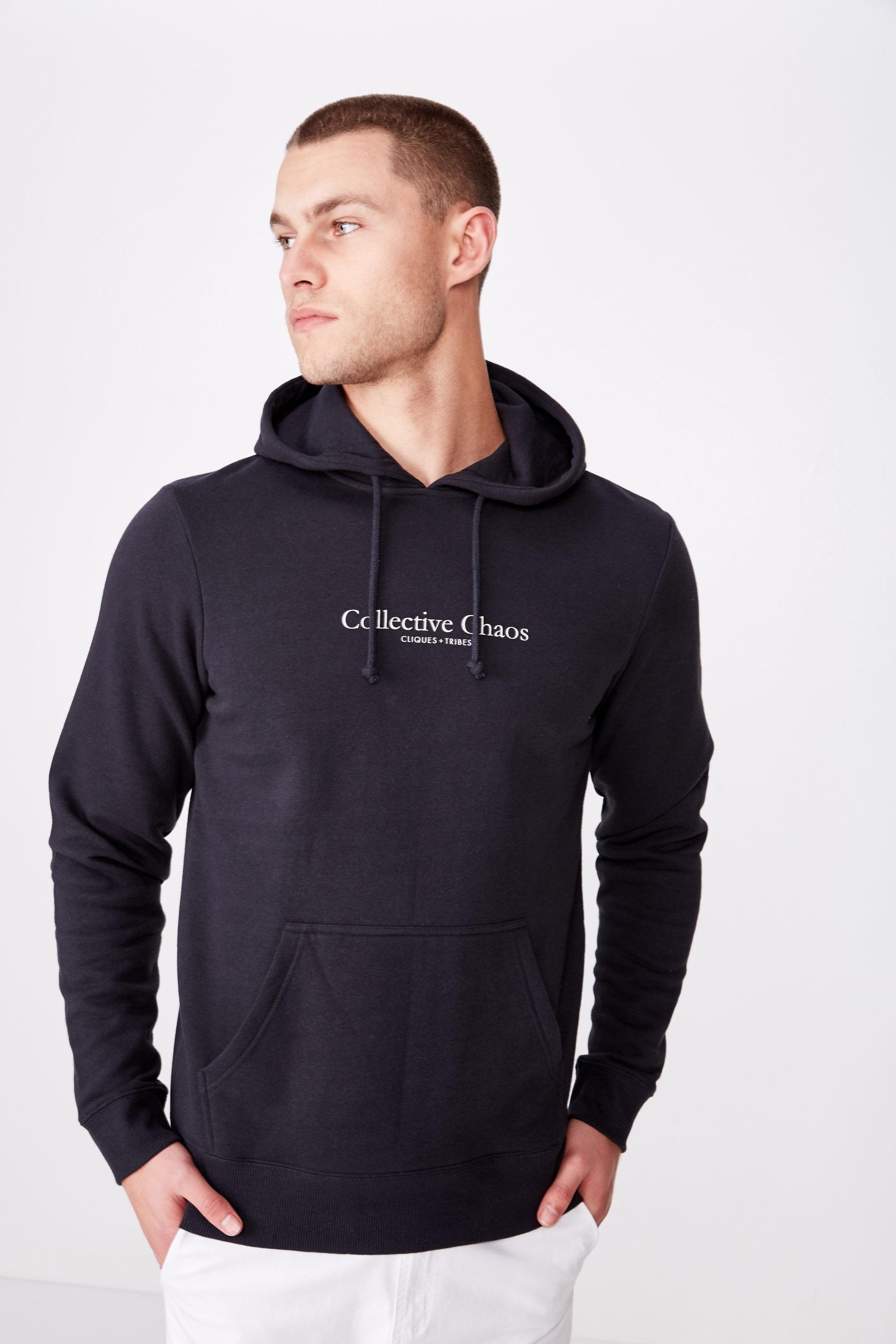 Cotton On Men - Fleece Pullover 2 - Washed black/collective chaos