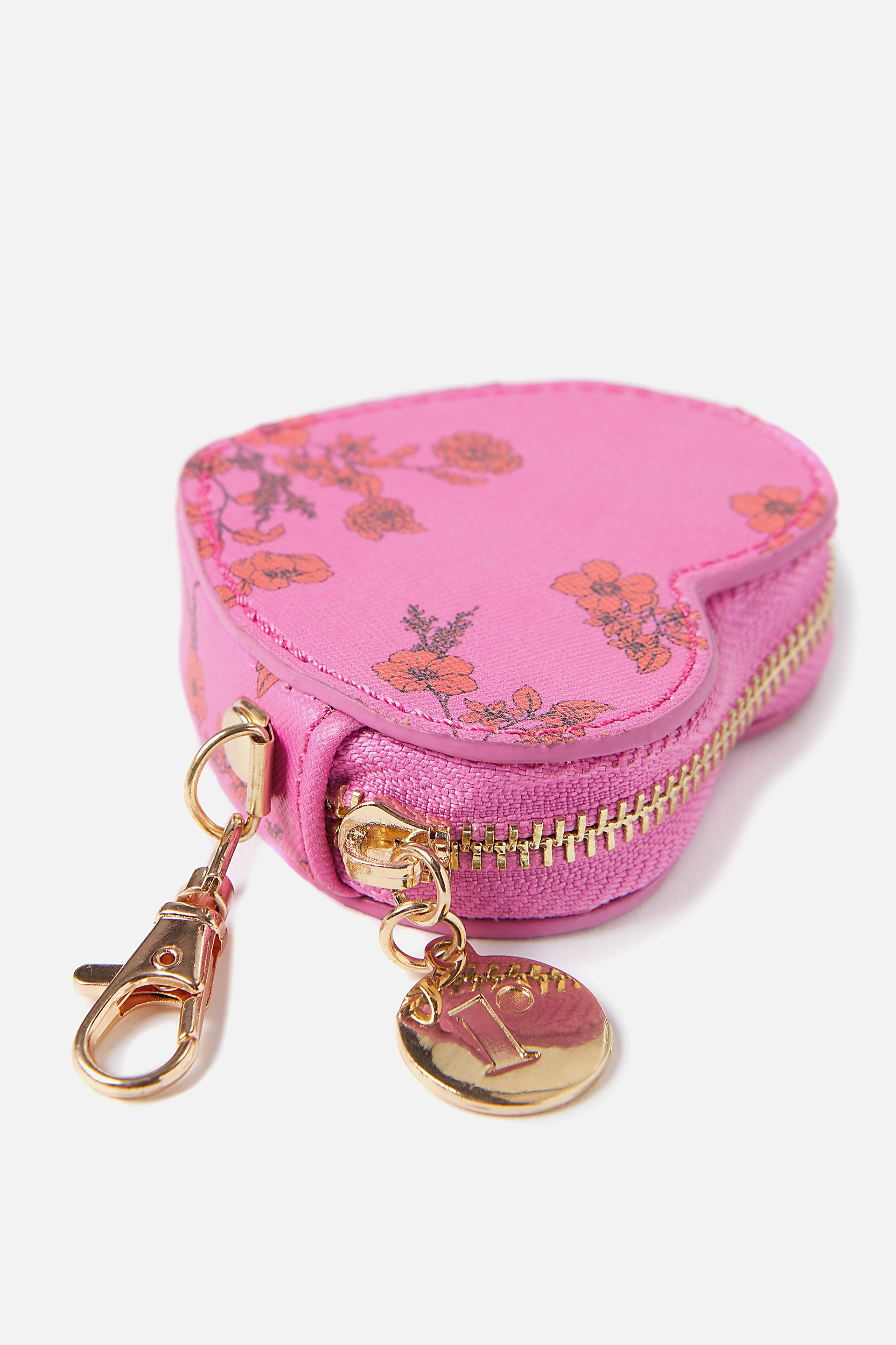 Rubi - Houston Heart Purse - Laura jane pink floral 9352855369773