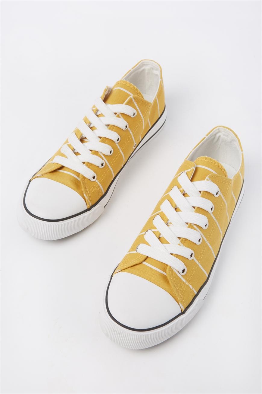 Rubi - Jodi Low Rise Sneaker 1 - Mustard stripe 9352855431555
