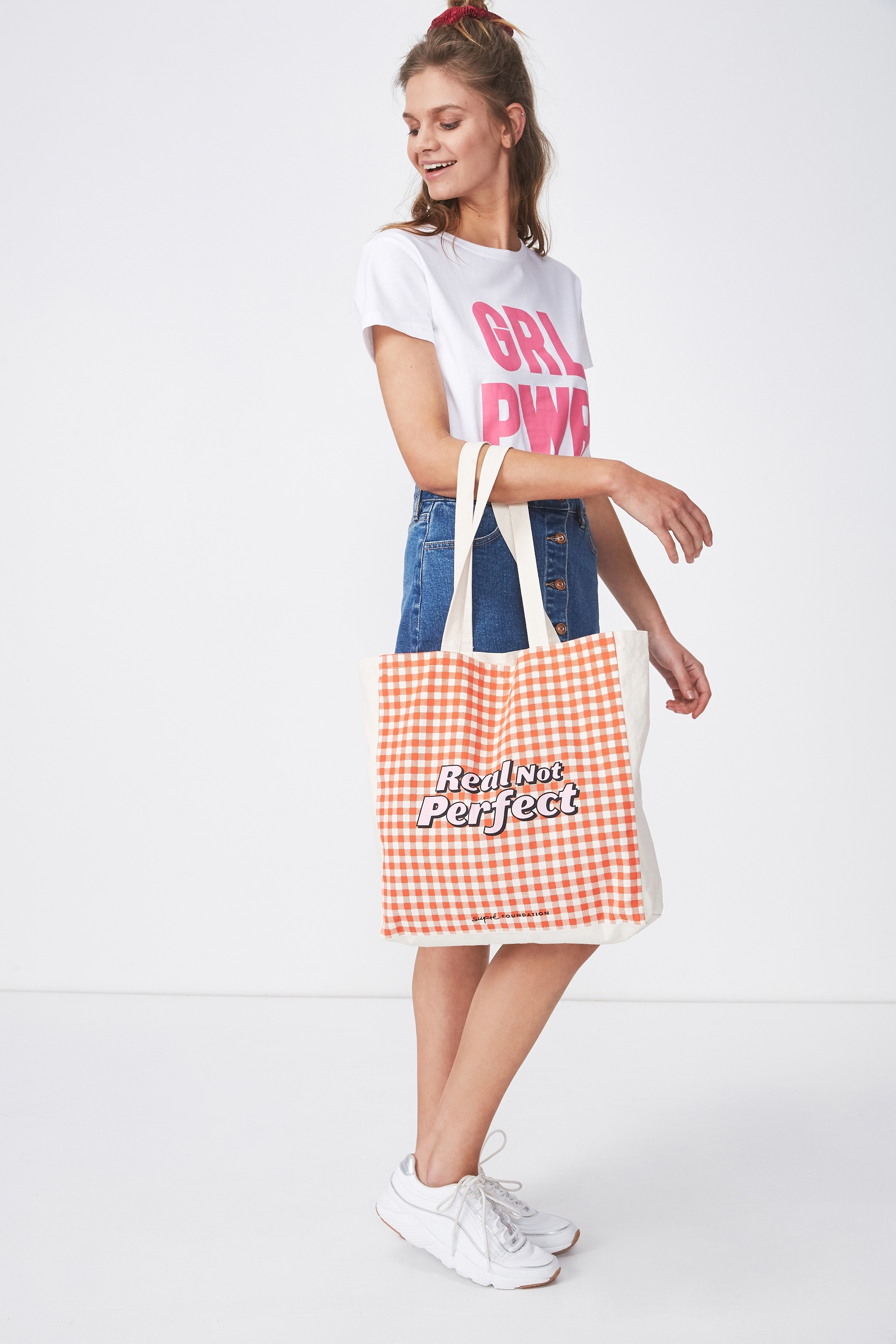 Supré Foundation - Supre Foundation Tote Bag - Real not perfect 9353699265283