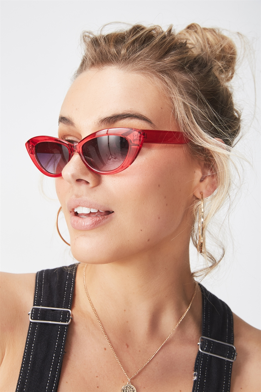 Supré - Alexis Cat Eye Sunglasses - Red 9352855039805