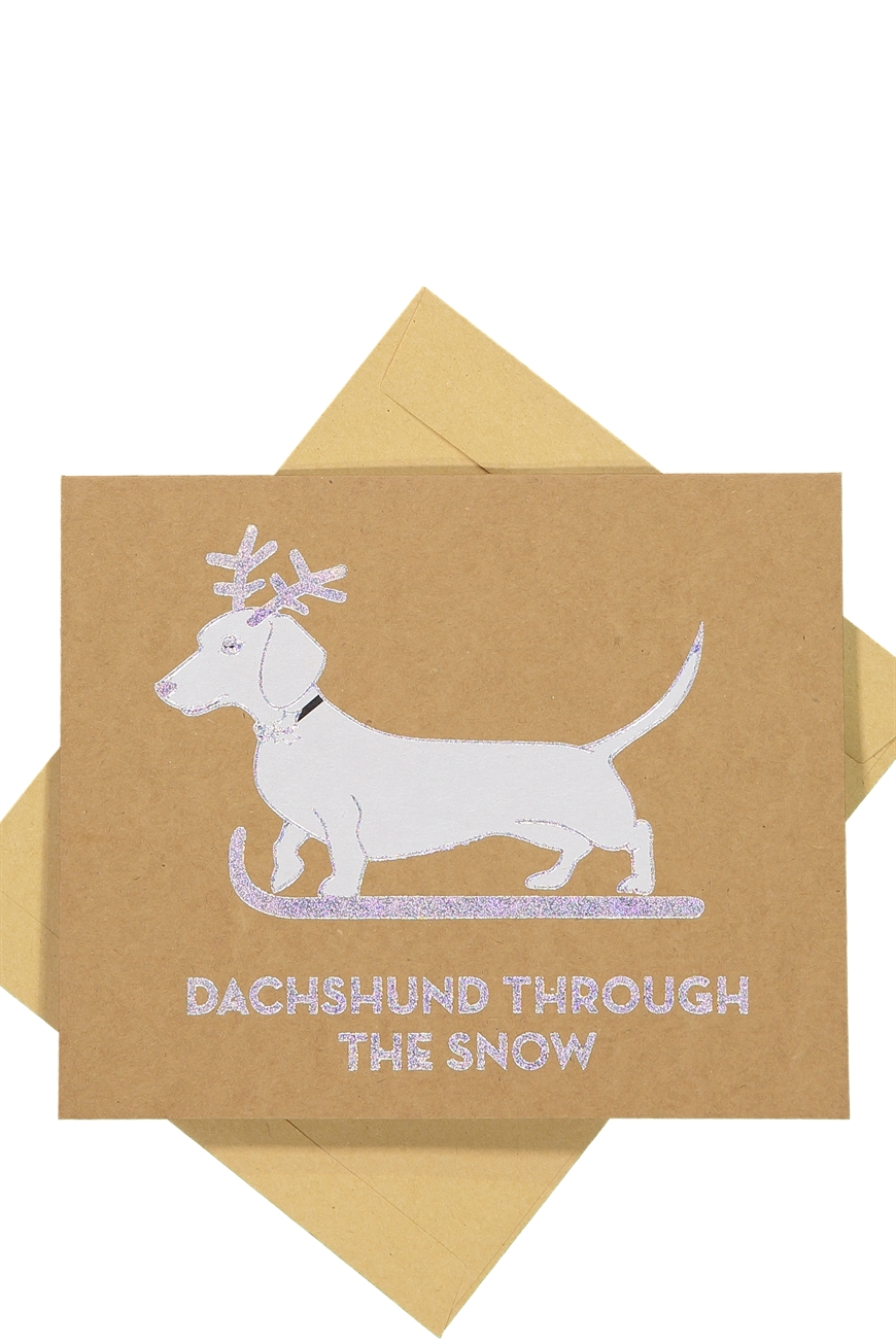 Typo - Christmas Cards 2017 - Holographic dachshund