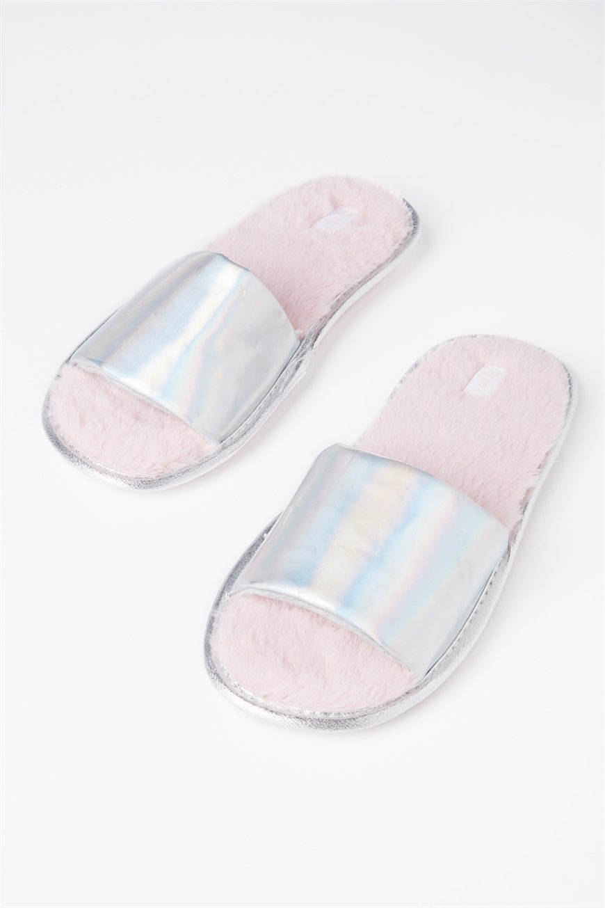 Typo - Slippers - Holographic fur