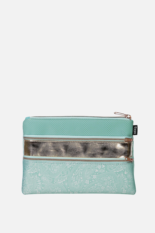 Typo - Double Archer Pencil Case - Blue lace rose gold 9352403062767