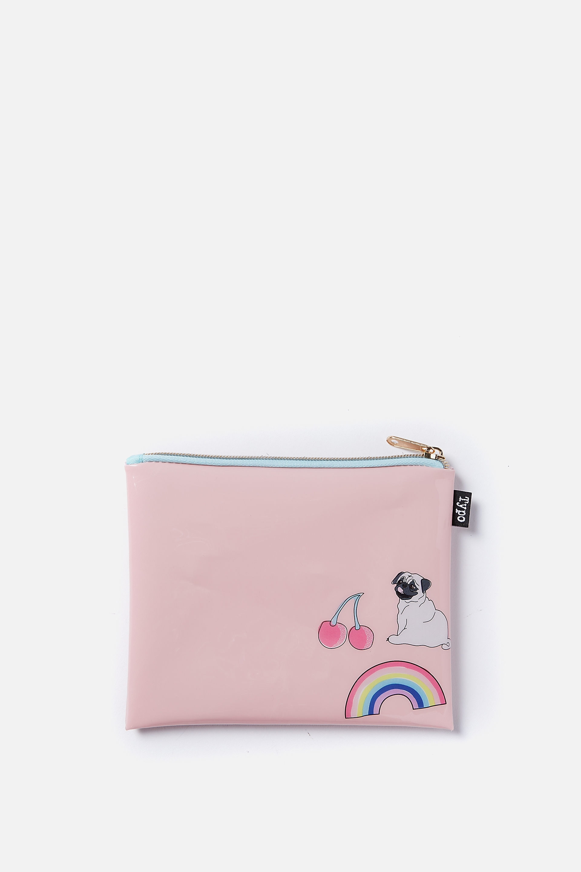 Typo - Spinout Pencil Case - Pug rainbow cherry 9352403065805