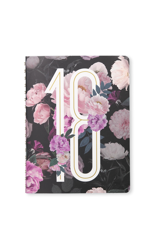 Typo - 2018 Printed Planner - Dark floral