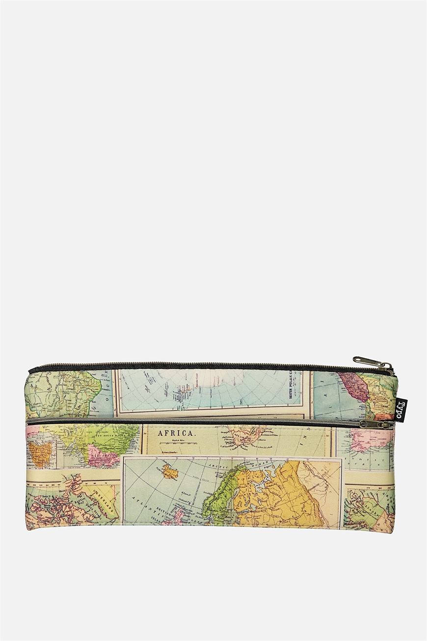Typo - Patti Pencil Case - Neoprene map 9352403063177