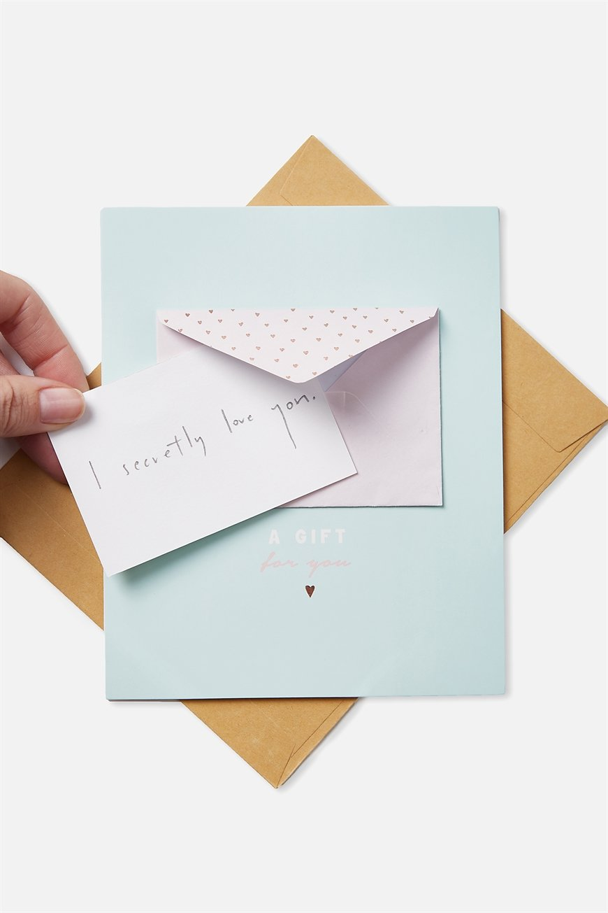 Typo - Premium Mothers Day Cards 2018 - Mini envelope a gift for you