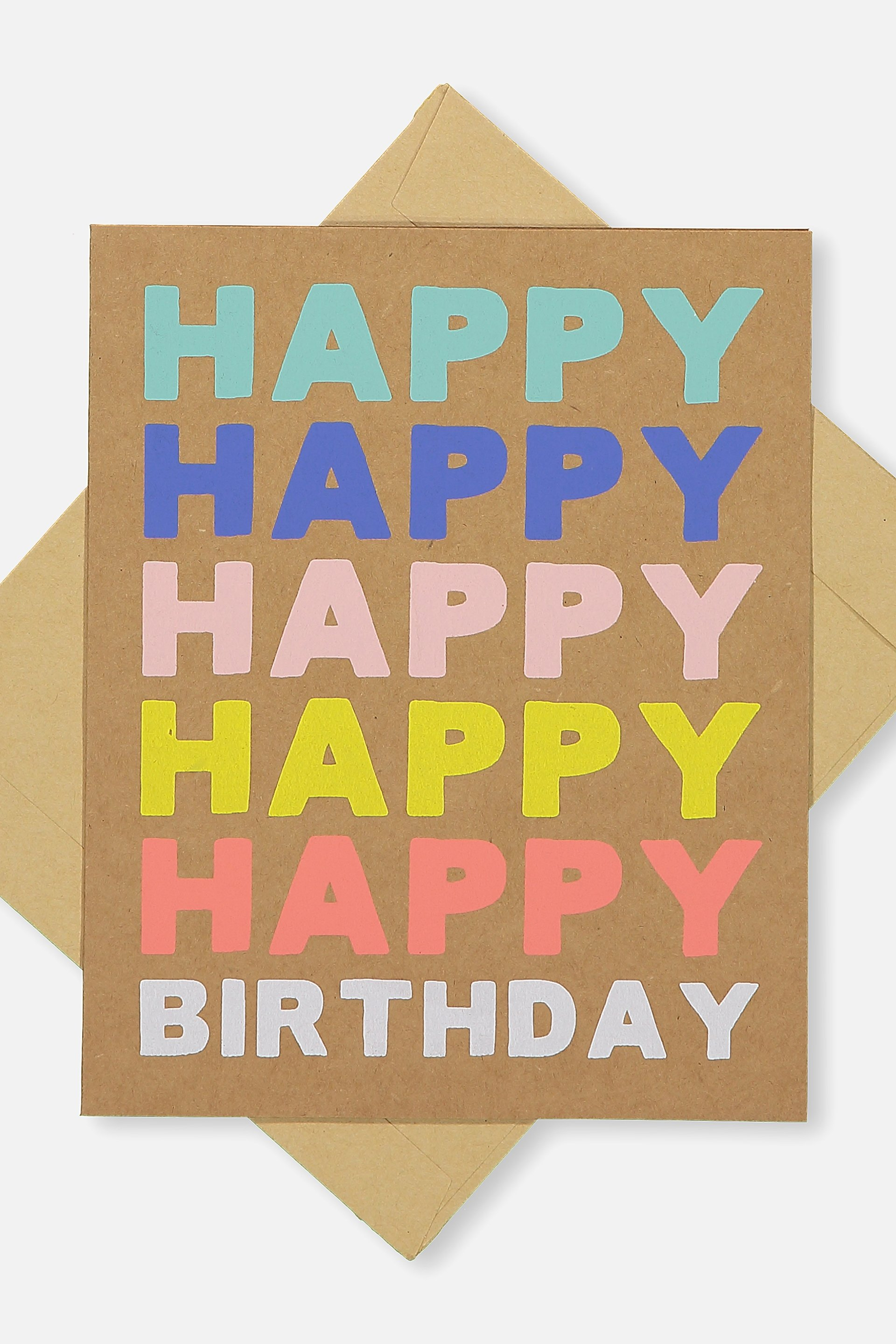Typo - Nice Birthday Card - Happy happy birthday