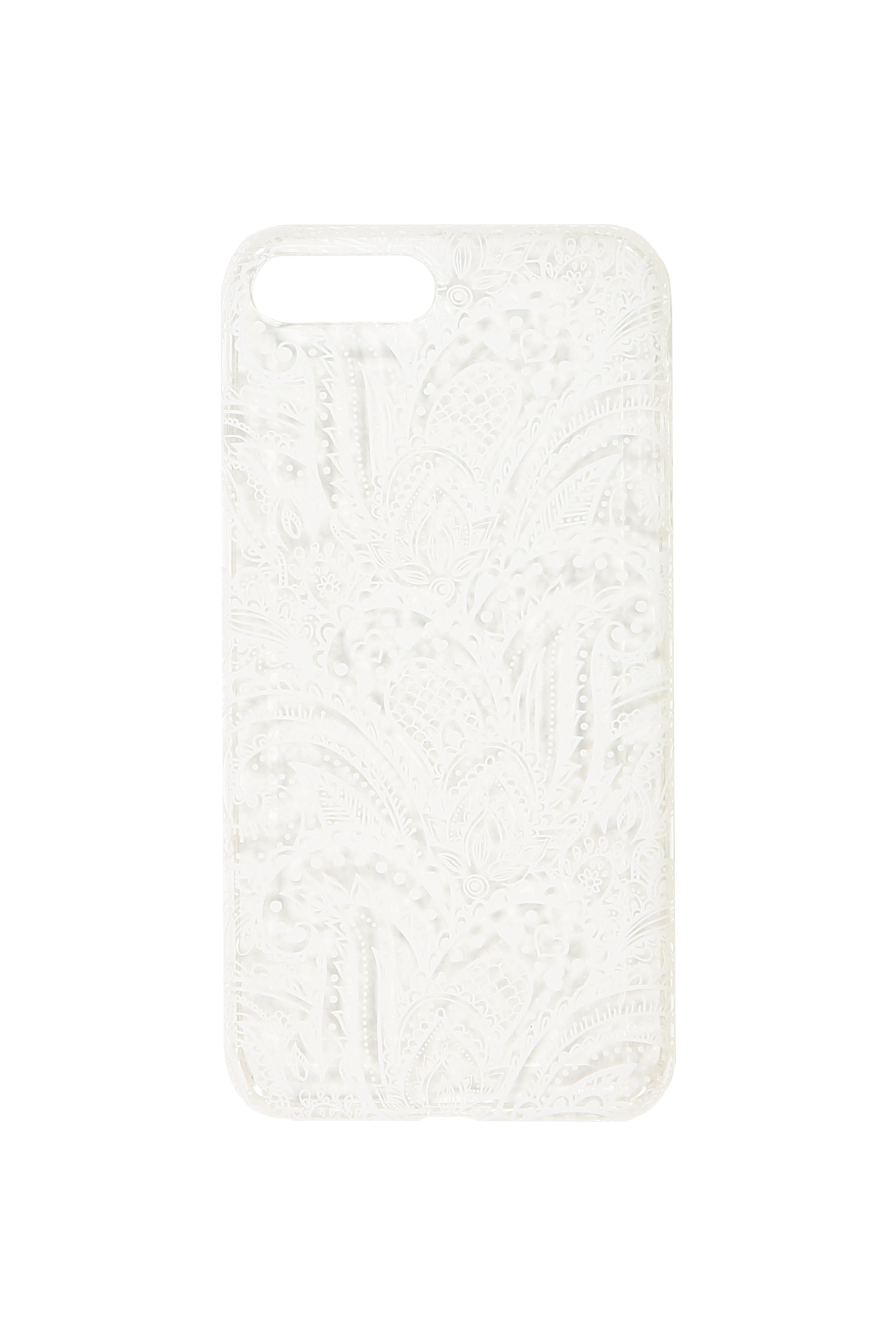 Typo - Transparent Phone Cover 7 And 8 Plus - White lace 9350486573828