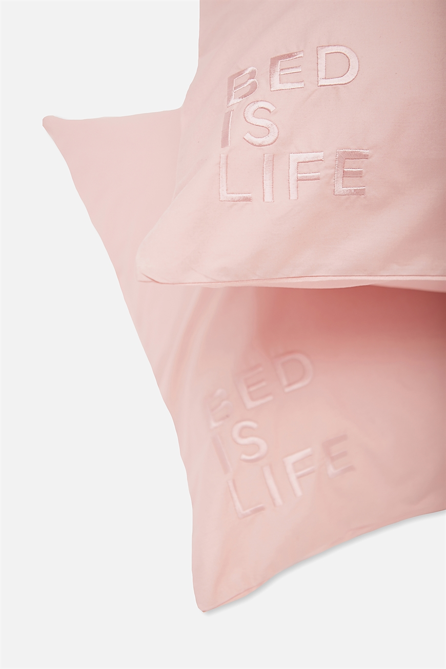 Typo  Beauty Pillow Cases Set of 2  Bed is life