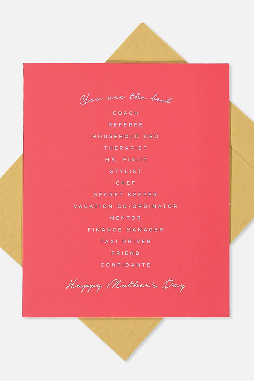 Typo - Mothers Day Cards 2018 - Best of everything