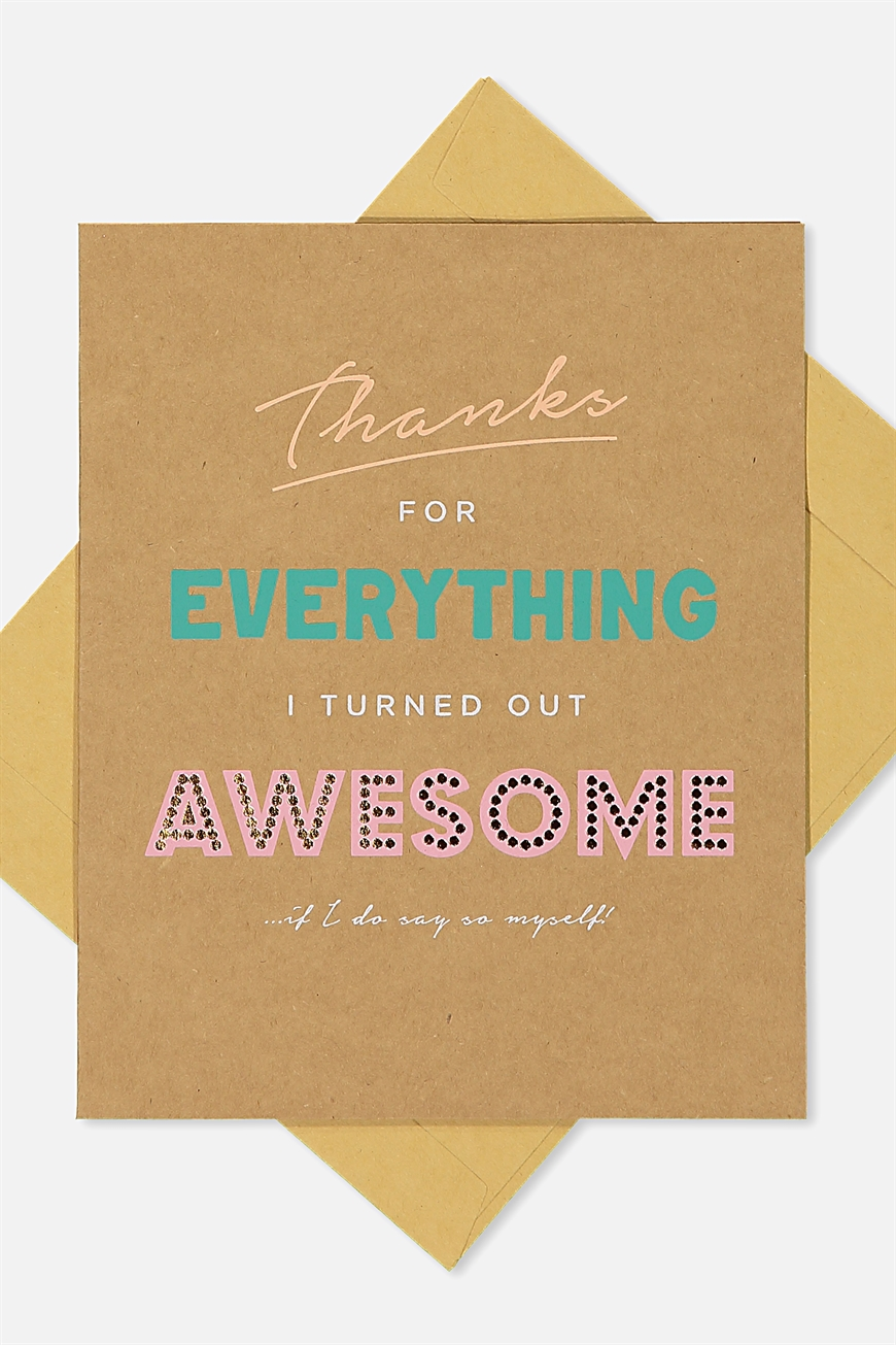 Typo - Mothers Day Cards 2018 - Thanks awesome