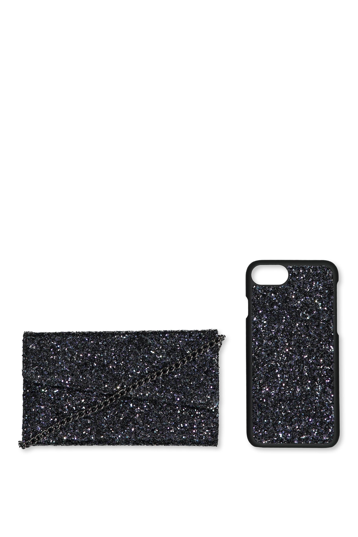 Typo - Cross Body Phone Case 6,7,8 - Black glitter 9351785124889