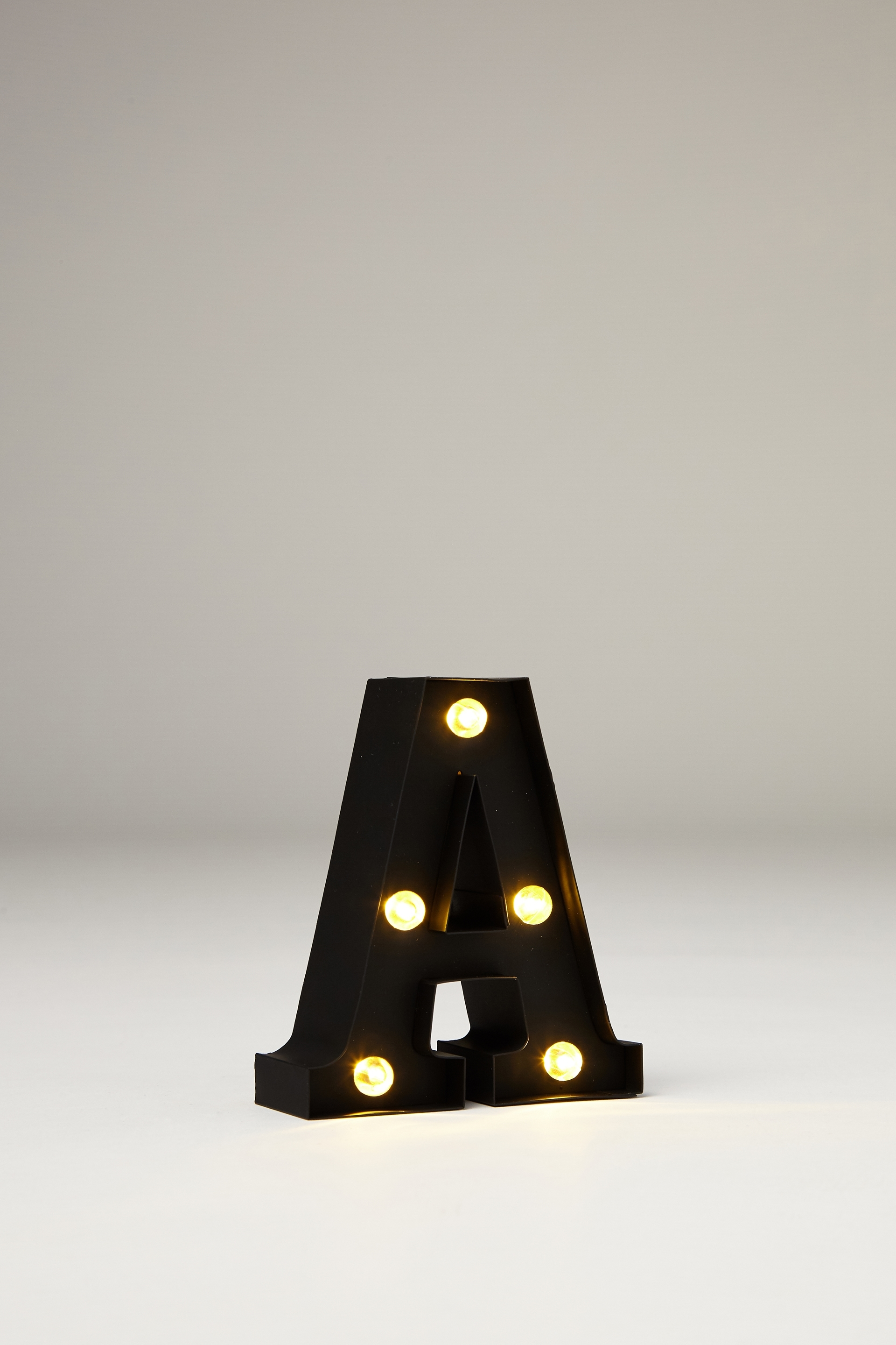 Mini Marquee Letter Lights 3 9inch Black Rubber A