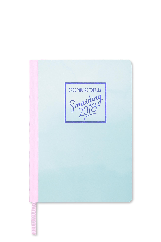 Typo - 2018 Everyday Planner - Blue smashing