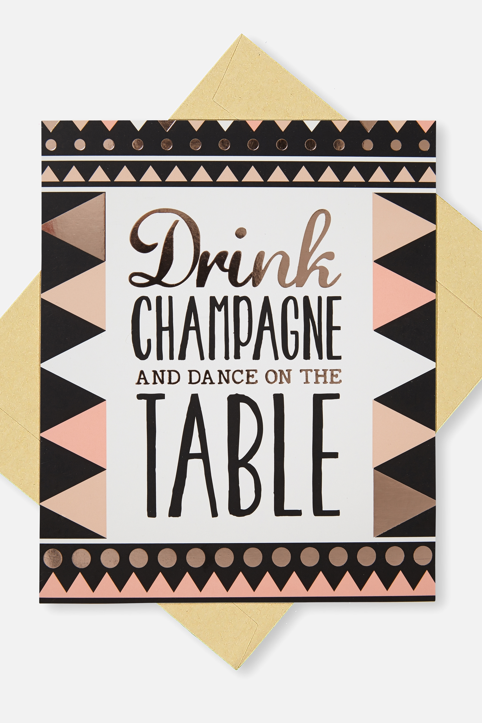 Typo - Blank Card - Champagne