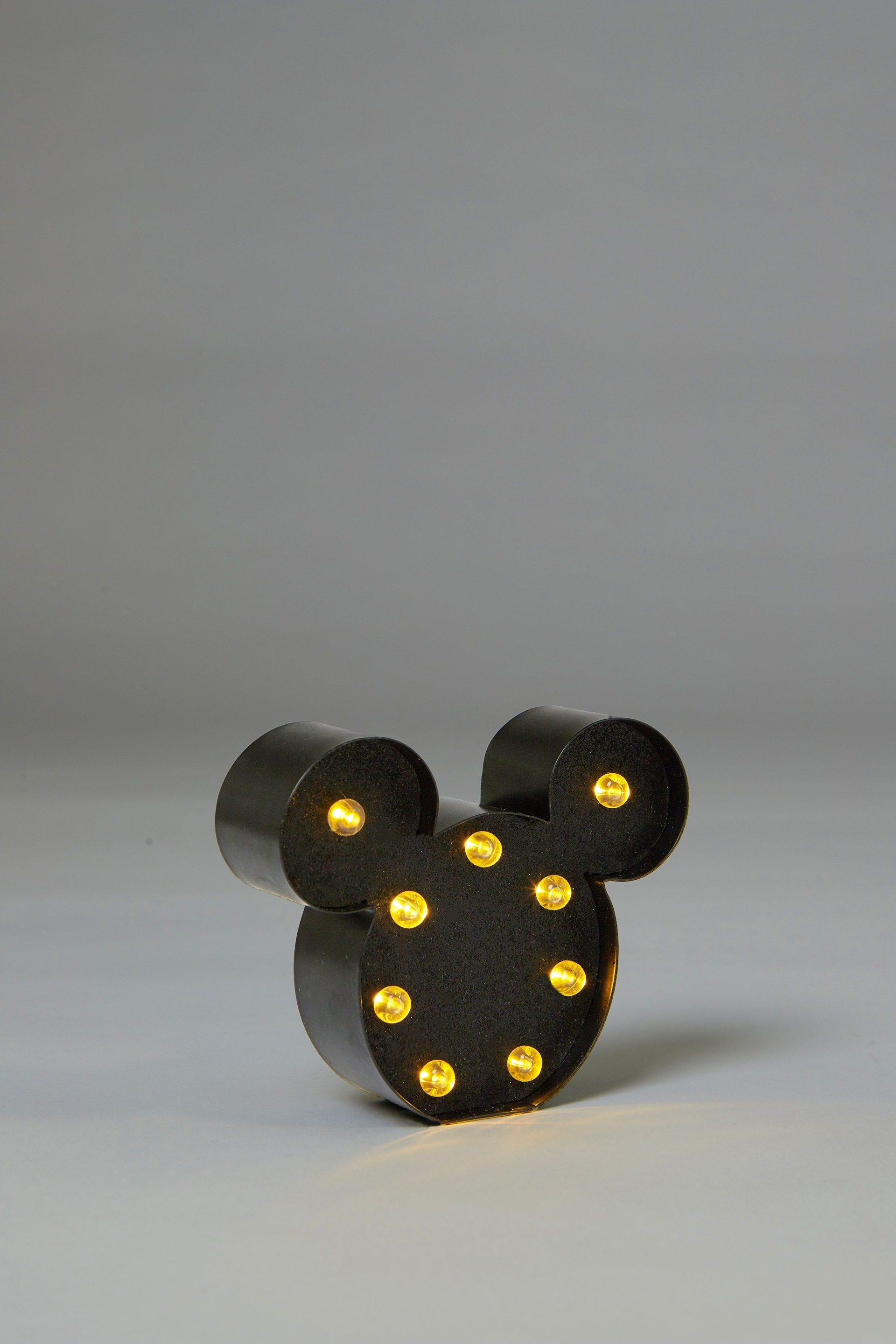 Typo  Shaped Mini Marquee Light  Lcn mickey mouse black glitter