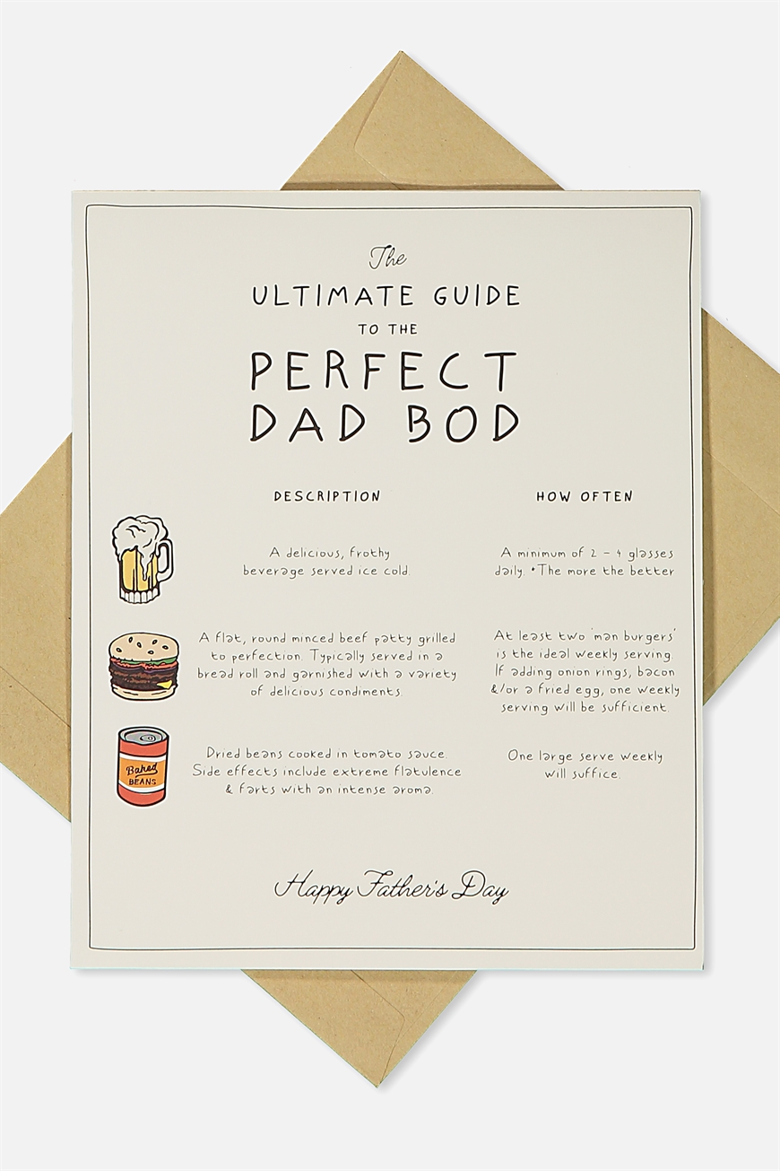 Typo - Fathers Day Card - Dad bod!