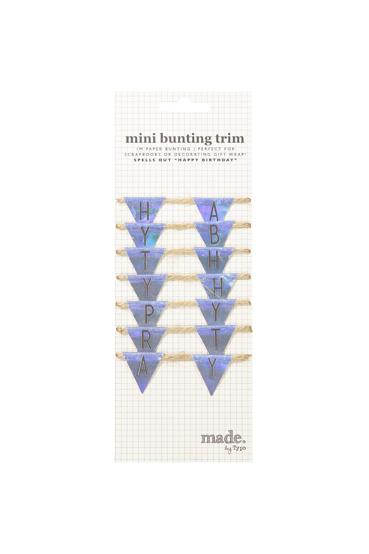 Typo - Mini Bunting Trim - Holographic birthday