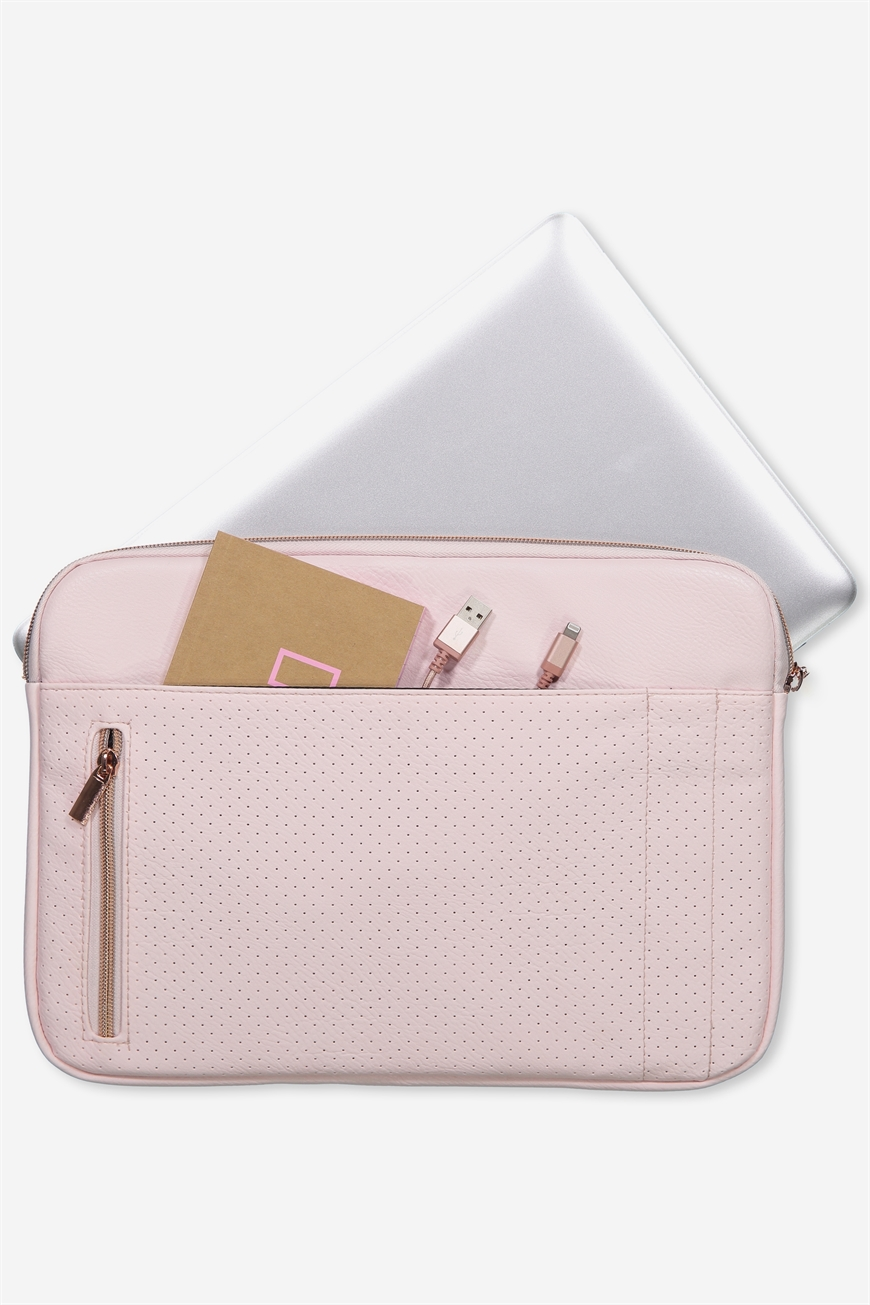 Typo - Take Charge 13 Inch Laptop Cover - Blush perforated 9352855161544