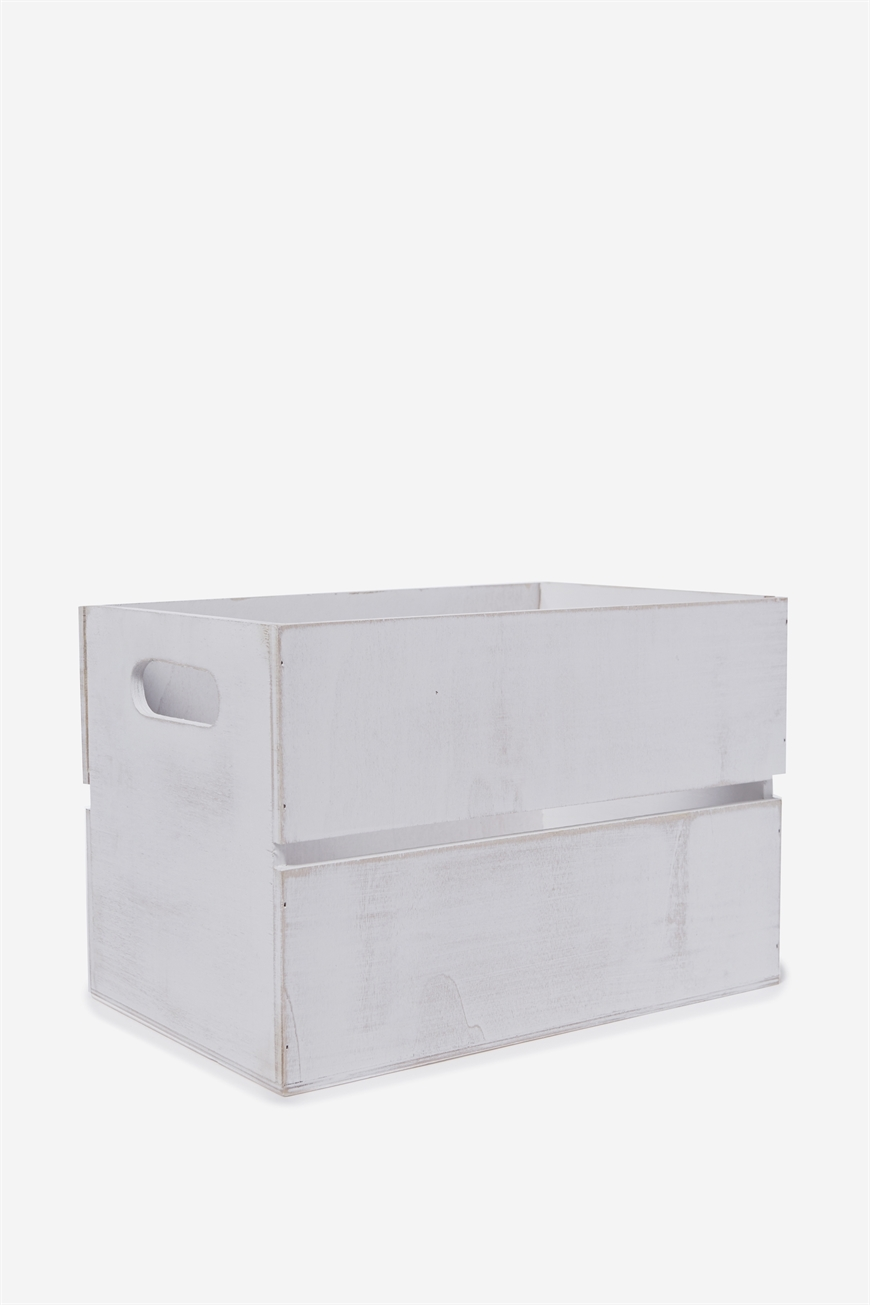 Typo  Wooden Crate  White wash