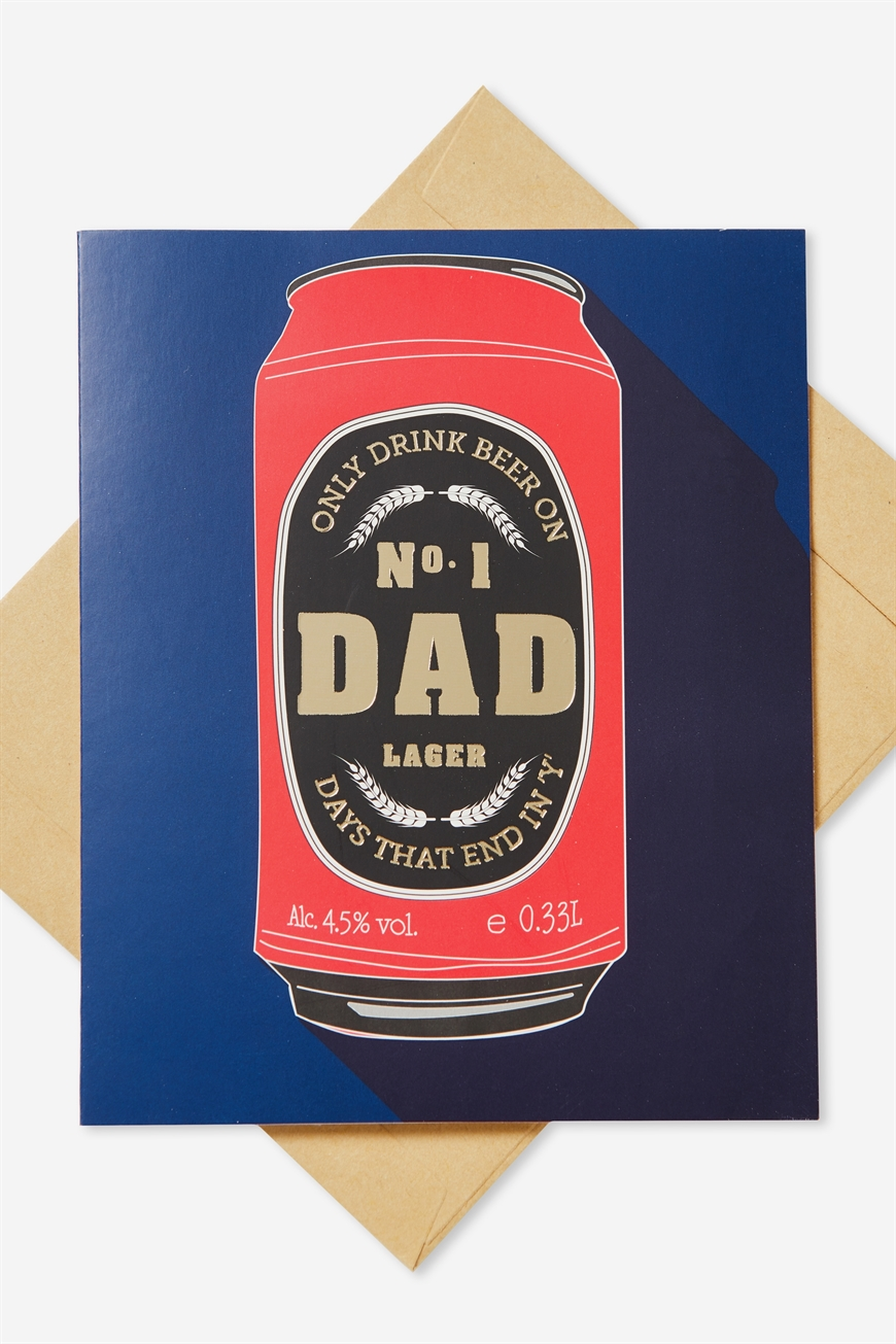 Typo - Fathers Day Card - Dad drink beer!
