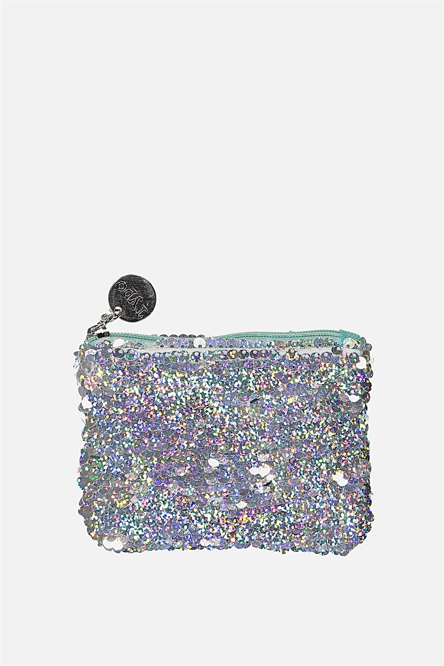 Typo - Penny Coin Purse - Holographic sequins
