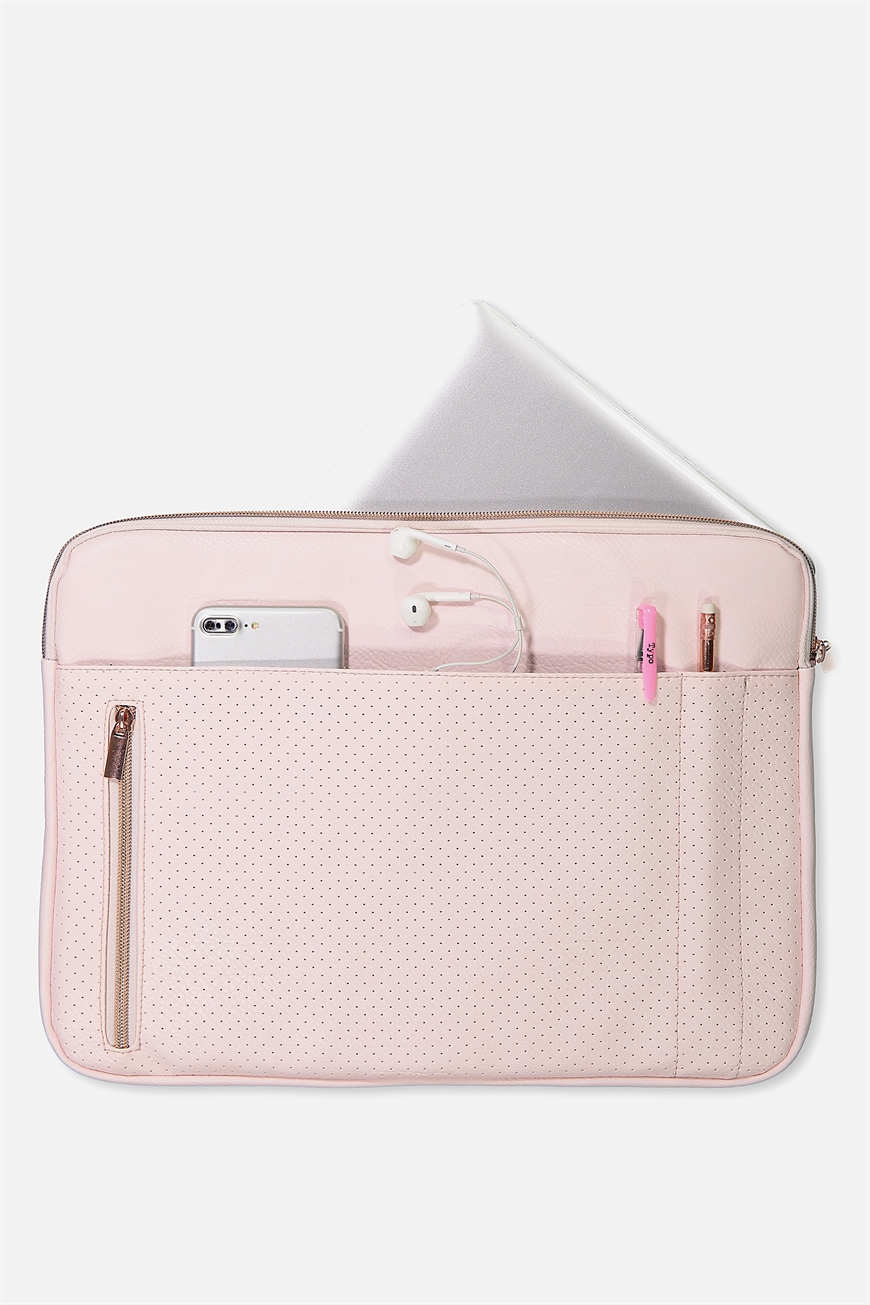 Typo - Take Charge 15 Inch Laptop Cover - Blush perforated 9352855161629