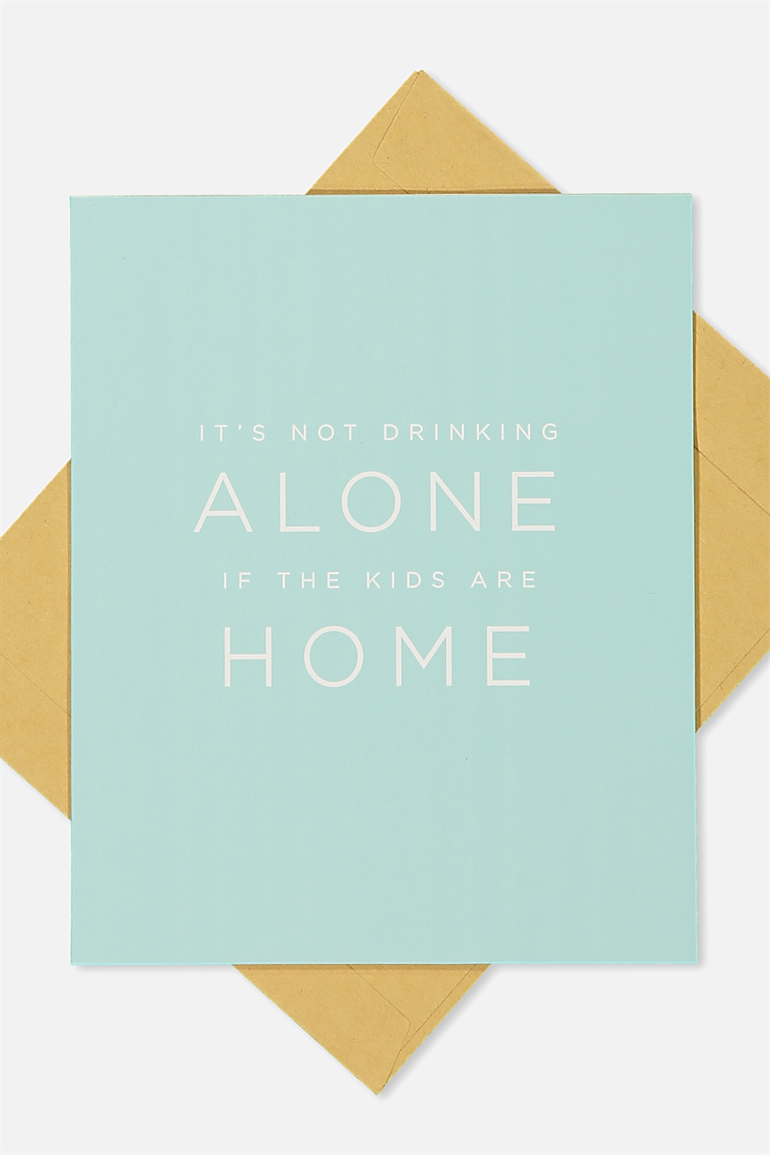 Typo - Mothers Day Cards 2018 - Drinking alone!