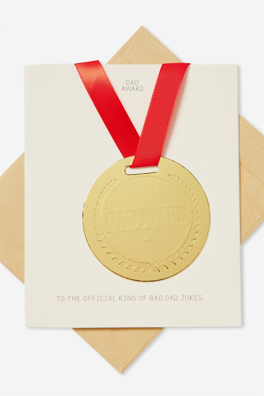 Typo - Fathers Day Card - Medal