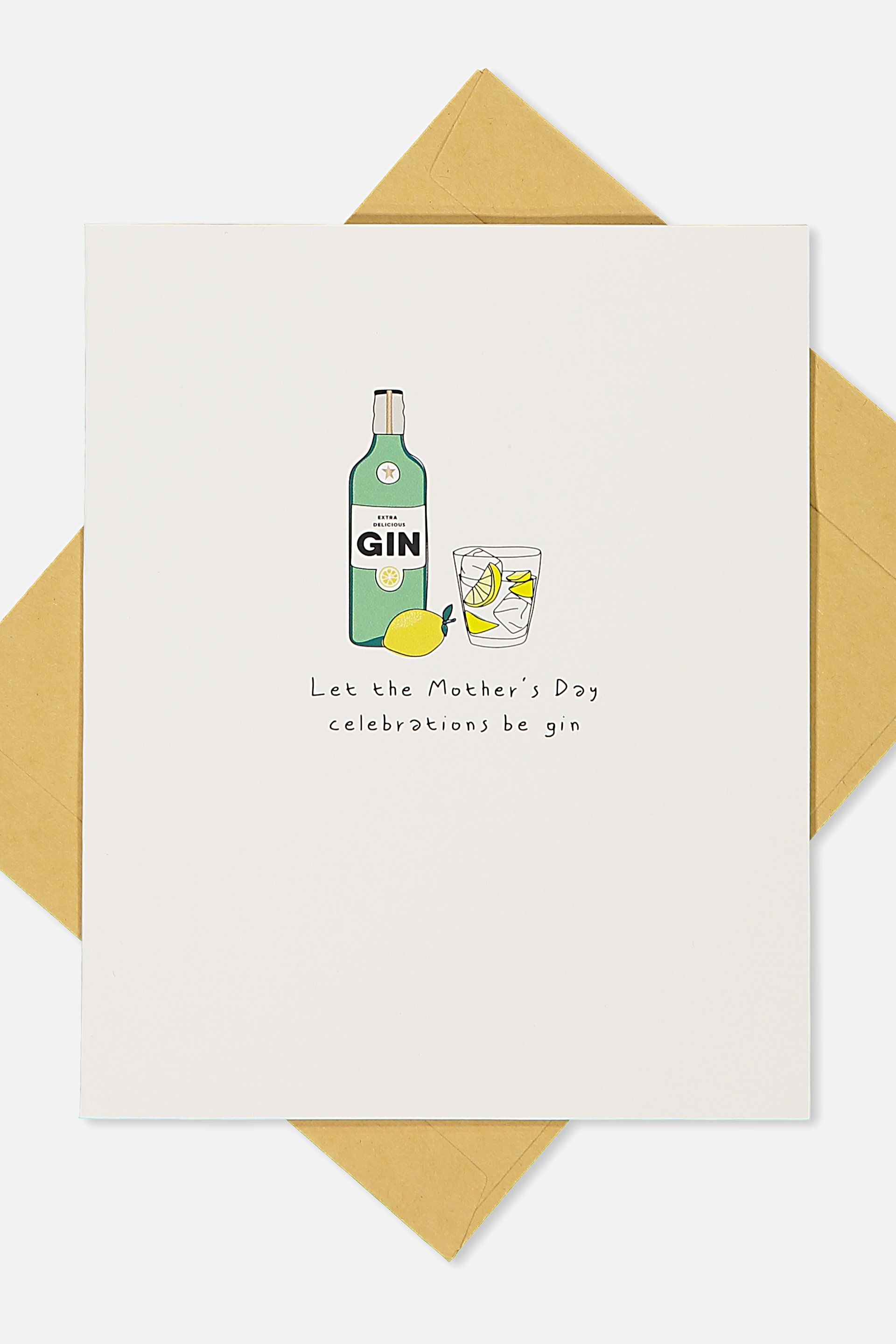 Typo - Mothers Day Cards 2018 - Gin!