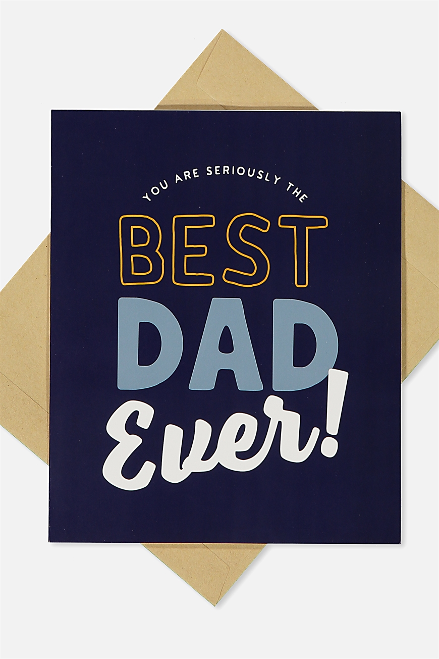 Typo - Fathers Day Card - Seriously best dad ever