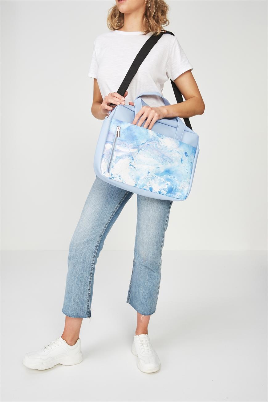 "Typo - Take Charge Laptop Bag 15"" - Blue marble 9353699077138"
