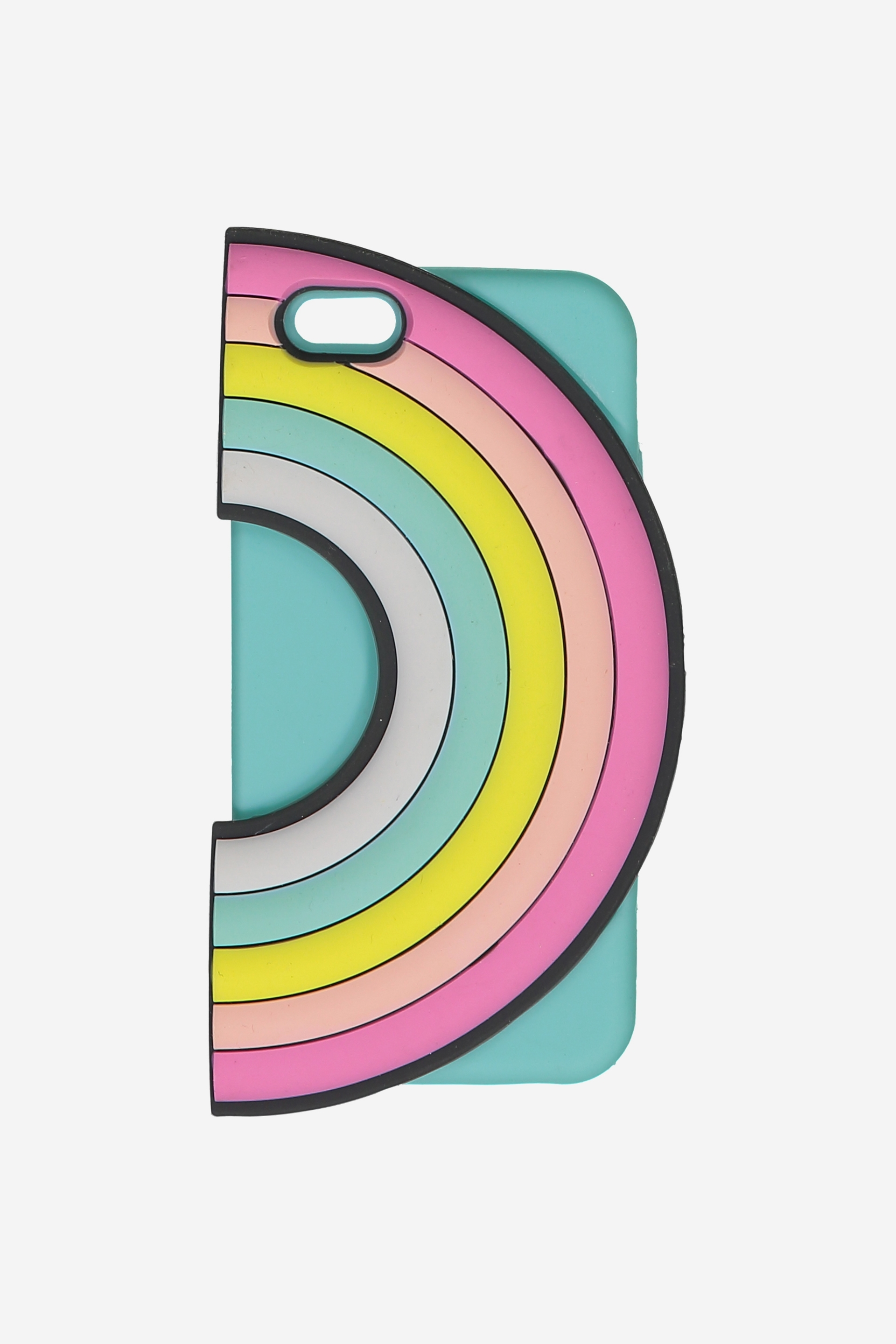 Typo - Shaped Silicon Phone Cover 6 - Rainbow 9351533349090