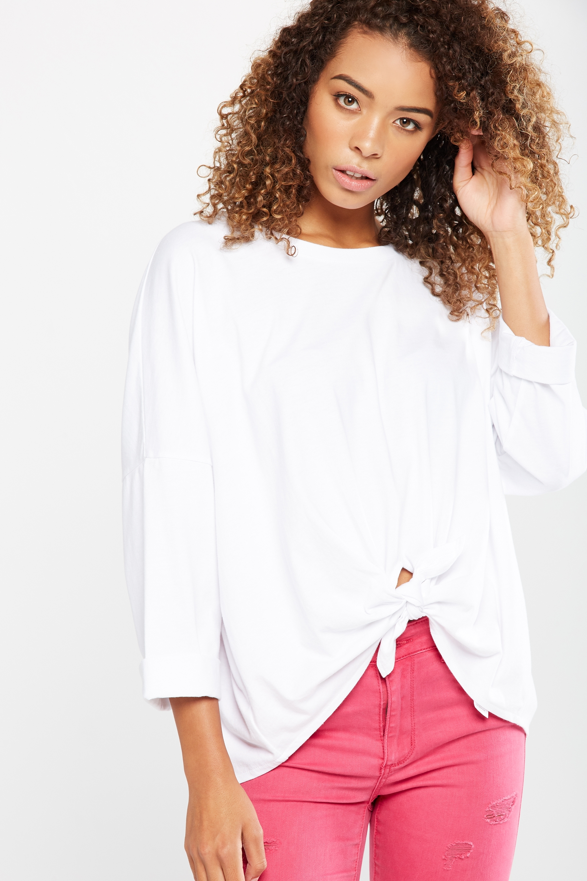 Cotton On Women - Holly Oversize Tie Front Top - White