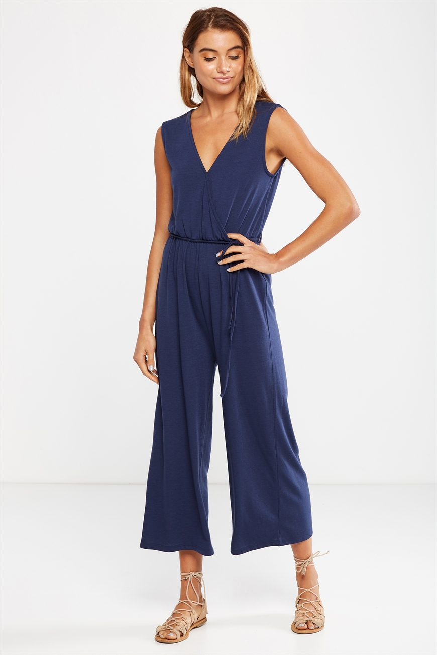 fec90322f6 Cotton On Women - Jersey Joss Culotte Jumpsuit - Space navy